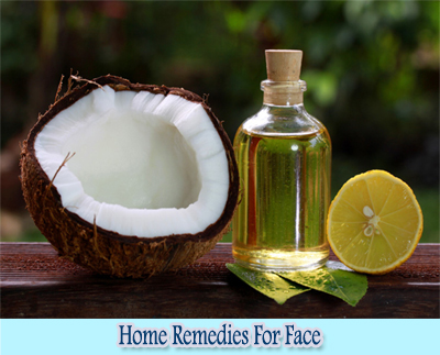Coconut Oil : Home Remedies for Clear Face