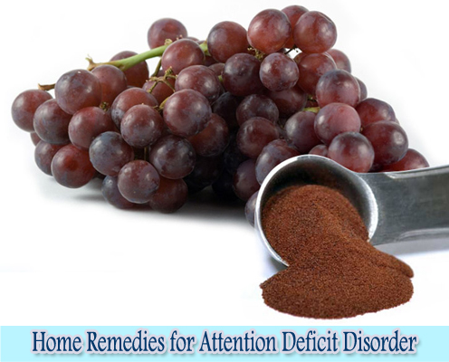 Grape Seed Extract : Home Remedies for Attention Deficit Disorder