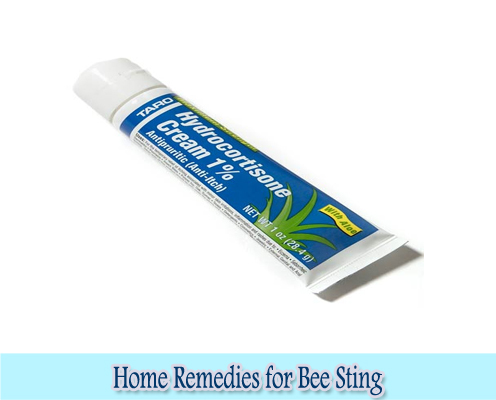 Hydrocortisone Cream : Home Remedies for Bee Sting