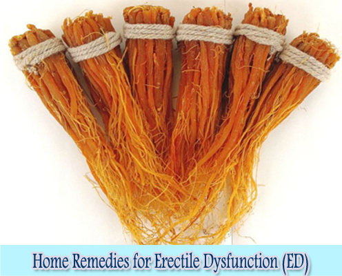 Korean Red Ginseng : Home Remedies for Erectile Dysfunction (ED)