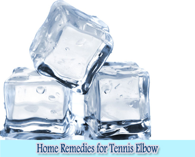 Ice cubes : Home Remedies for Tennis Elbow