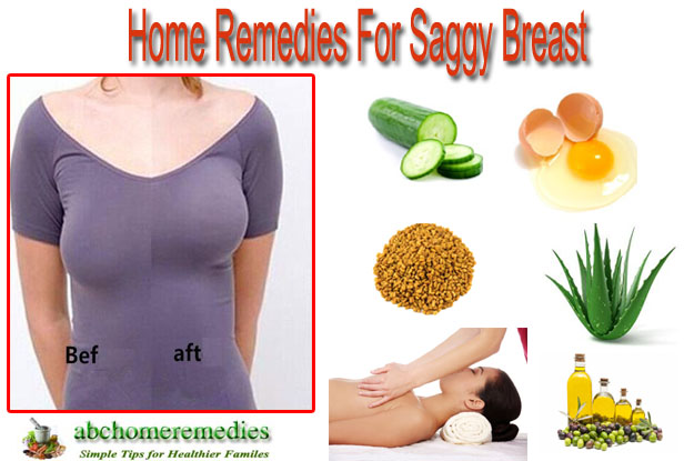 Home Remedies for Saggy Breast