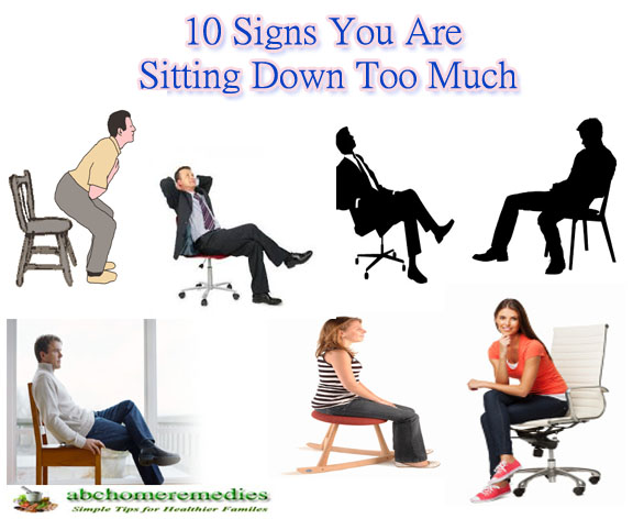 10 Signs You Are Sitting Down Too Much